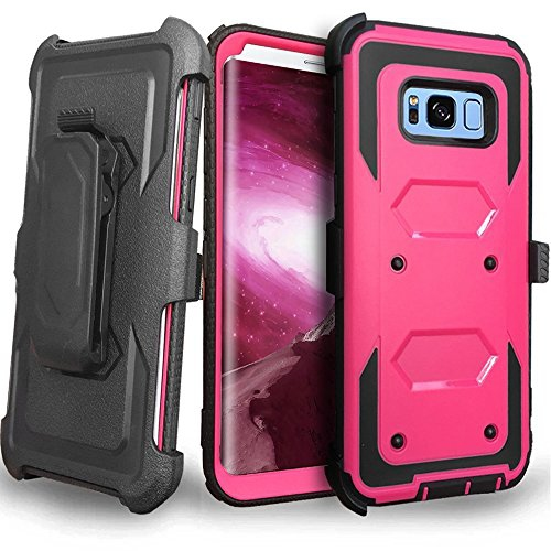 Galaxy S8 Plus Case, Jwest Heavy Duty Protection Kickstand Clip Holster Shockproof Case Cover for Samsung Galaxy S8+ Plus (201