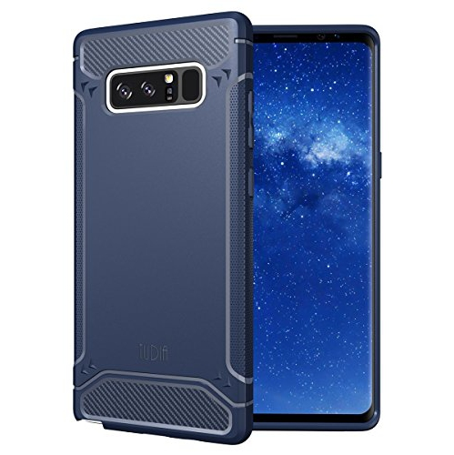 Galaxy Note 8 Case, TUDIA Carbon Fiber Design Lightweight [TAMM] TPU Bumper Shock Absorption Cover for Samsung Galaxy Note 8 (