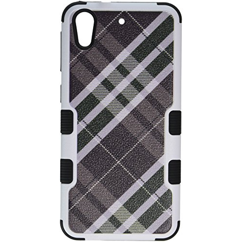 MyBat Cell Phone Case for HTC Desire 626/626S - Retail Packaging - Black/Gray/Green