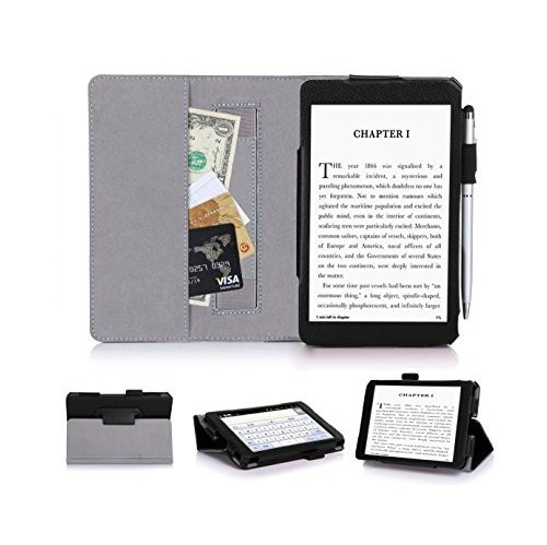 Kindle, 6' Glare-Free Touchscreen Display 2014 CaseCover, FYY® Ultra Slim Magnetic Smart Cover Case for Kindle, 6' Glare-Free