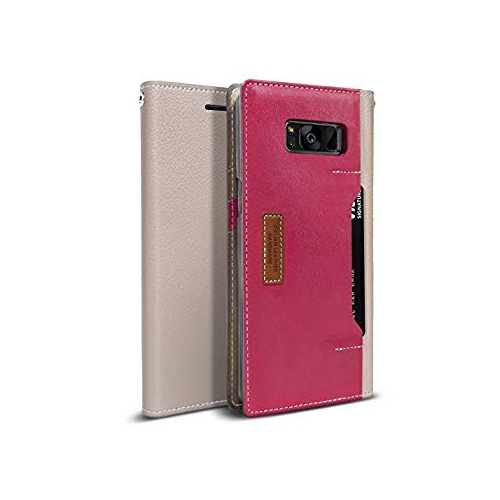 Obliq Wallet Case for Samsung Galaxy S8 Plus - Gray; Pink