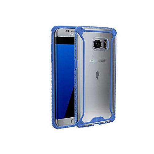 Poetic Cases Affinity Slim Fit Dual Material Protective Bumper Case for Samsung Galaxy S7 Edge, Blue