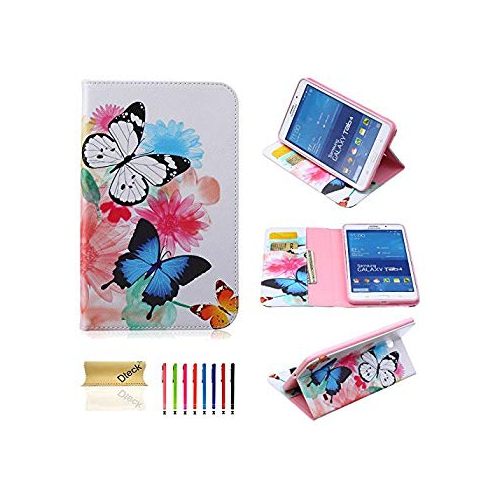 T330 Case, Tab 4 8.0 Case, Dteck(TM) Colorful Beautiful Print PU Leather Stand Flip Protective Case Cover with Card Slots Cash