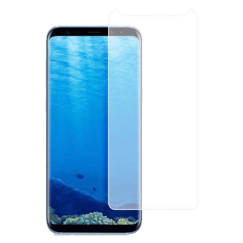 Galaxy S8 Plus Screen Protector, Fanhoo 3D Curved Half Screen Case Friendly [Bubble Free] [HD Clear] [Scratch Resistant] Tempe