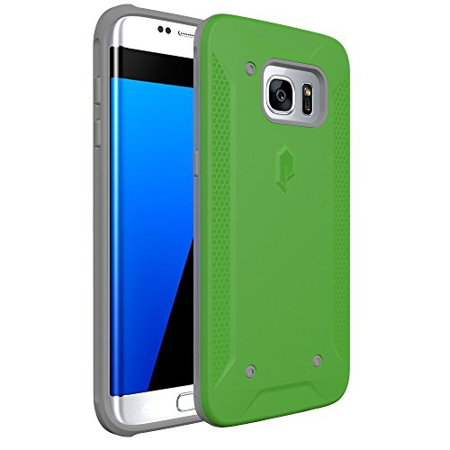 Poetic Cases Quarterback Heavy Duty Protection Stylish PC Plus TPU Hybrid Case for Samsung Galaxy S7 Edge Green/Gray