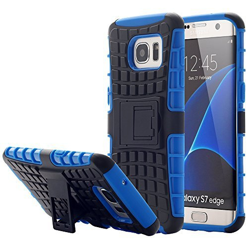 Galaxy S7 Edge Case,Pandawell™ [Shock Absorbing] Hybrid Impact Resistant Heavy Duty Rugged Dual Layer Case with kickstand for