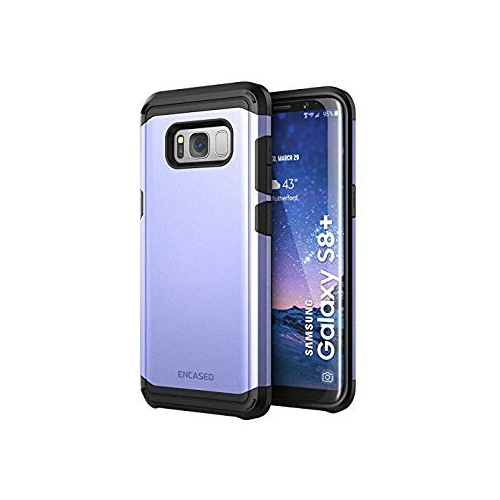 Galaxy S8 Plus Case Purple - Rugged Tough Protective Phone Cover (Scorpio R5 Series by Encased) Premium Dual Layer Protection