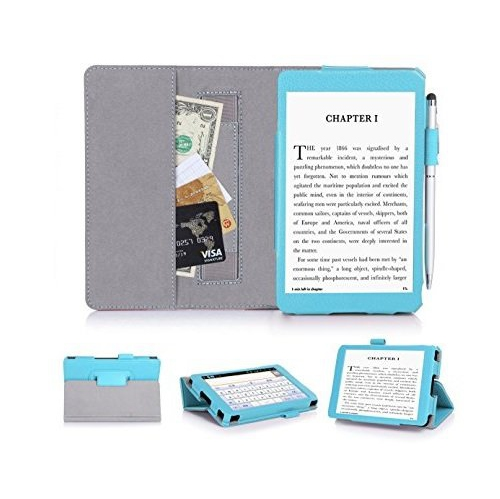 "Kindle, 6"" Glare-Free Touchscreen Display 2014 CaseCover, FYY? Ultra Slim Magnetic Smart Cover Case for Kindle, 6"" Glare-Free"