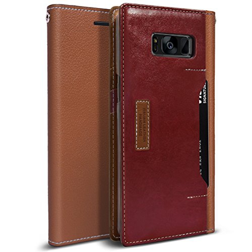 Obliq Wallet Case for Samsung Galaxy S8 - Brown