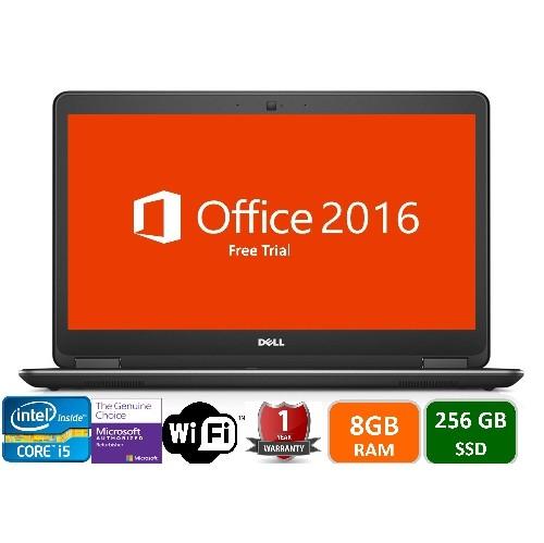 "Dell Latitude E7440, Intel i5-4300U-1.9GHz, 8GB Memory, 256GB SSD , Windows 10 Pro , 14"" Screen , 1YW- Refurb"