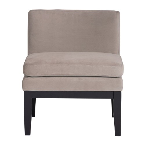Studio Designs Home Cornice Contemporary Slipper Chair in Grey Pumice