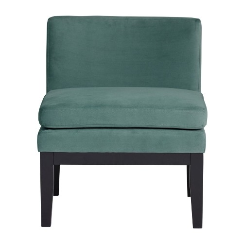 Studio Designs Home Cornice Contemporary Slipper Chair in Green Teal