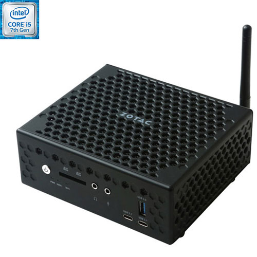ZOTAC ZBOX Barebones Mini PC (Intel Core i5-7200U/Intel HD Graphics 620/Windows 10) - English