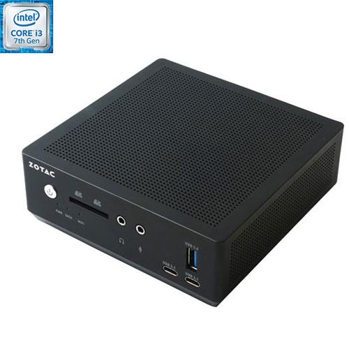 ZOTAC ZBOX Barebones Mini PC (Intel Core i3-7100U/Intel HD Graphics 620/Windows 10) - English