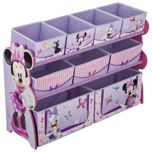 Disney Minnie Mouse 9 Bin Toy Organizer Purple Kids Dressers