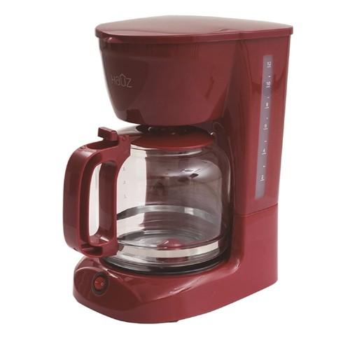 b99e61230ee3 Hauz 12 Cup 1.8L Coffee Maker Red