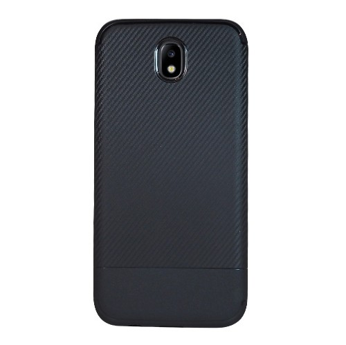 Exian Samsung Galaxy J7 2017 TPU Case Carbon Fiber Back Black