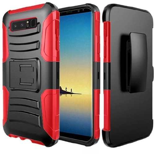 Insten Holster Case for Samsung Galaxy Note 8 - Black;Red