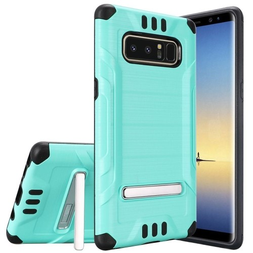 Insten For Samsung Galaxy Note 8 Teal Black Hard Hybrid Shockproof Case Cover w/stand