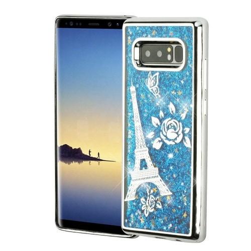 Insten For Samsung Galaxy Note 8 Blue Eiffel Tower Hard Hybrid Case