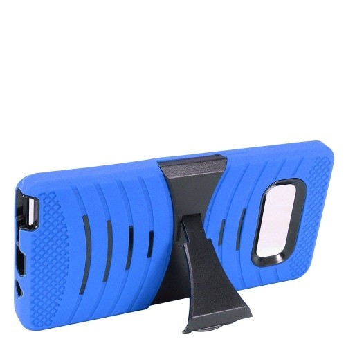 Insten For Samsung Galaxy Note 8 Blue Wave Symbiosis Soft Hybrid Case Cover w/stand