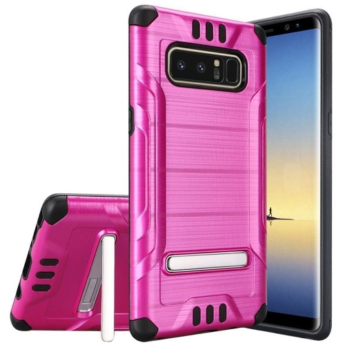 Insten For Samsung Galaxy Note 8 Hot Pink Hard Hybrid Shockproof Case Cover w/stand