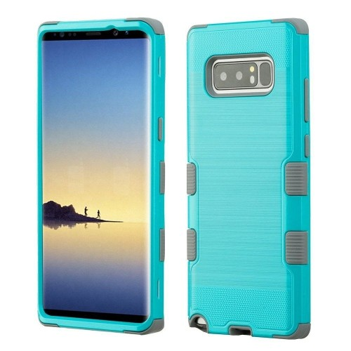 Insten For Samsung Galaxy Note 8 Teal Green Tuff Hard TPU Hybrid Brushed Case