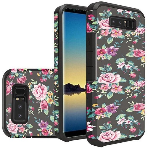 Insten For Samsung Galaxy Note 8 Multi-Color Tropical Flowers Hard Hybrid Case Cover