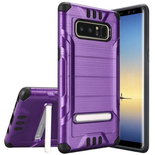 Insten For Samsung Galaxy Note 8 Dark Purple Black Hard Hybrid Shockproof Case w/stand
