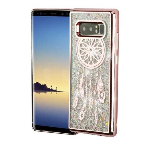 Insten For Samsung Galaxy Note 8 Silver Dreamcatcher Hard Hybrid Case Cover