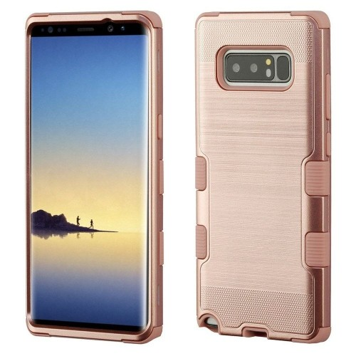 Insten For Samsung Galaxy Note 8 Rose Gold Tuff Hard TPU Hybrid Brushed Case