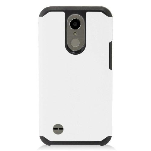 Insten For LG Grace 4G/Harmony/K10 (2017)/K20 Plus/K20 V White Hard Hybrid Case Cover