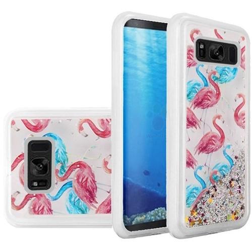 Insten For Samsung Galaxy S8 Multi-Color Flamingo Hard Hybrid Case Cover