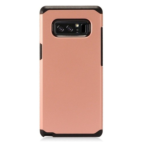 Insten For Samsung Galaxy Note 8 Rose Black Hard Hybrid Plastic Case
