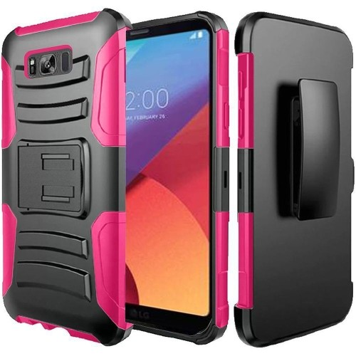 Insten For Samsung Galaxy S8 Active Black Hard Hybrid Case Cover w/stand Holster