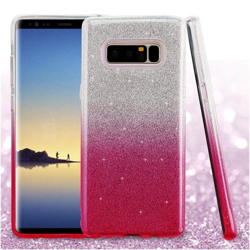 Insten For Samsung Galaxy Note 8 Pink Gradient Glitter Hard TPU Hybrid Case Cover