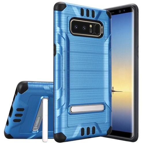 Insten For Samsung Galaxy Note 8 Blue Black Hard TPU Hybrid Shockproof Case w/stand