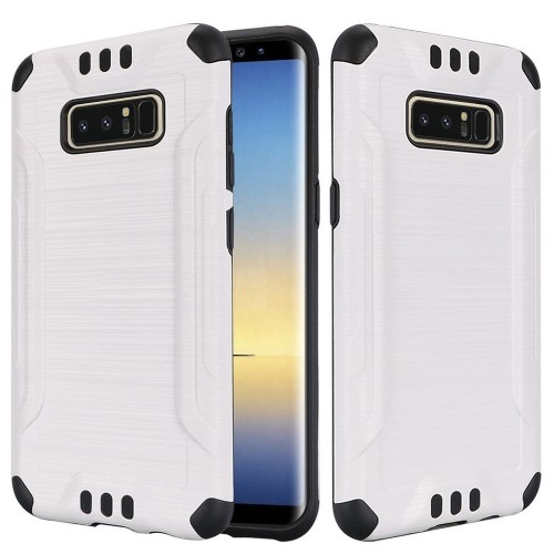 Insten Fitted Soft Shell Case for Samsung Galaxy Note 8 - White;Black