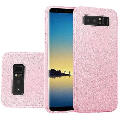 Insten For Samsung Galaxy Note 8 Light Pink Hard TPU Glitter Case