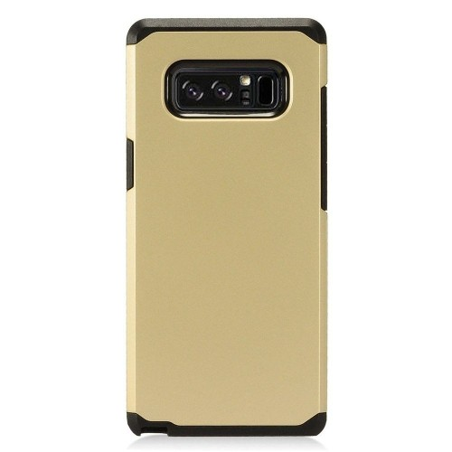 Insten For Samsung Galaxy Note 8 Gold Black Hard Hybrid Plastic Case Cover