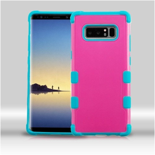 Insten For Samsung Galaxy Note 8 Hot Pink Teal Hard TPU Hybrid Plastic Case Cover