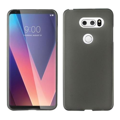 Insten For LG V30 Clear Black Skin Rubber Case Cover