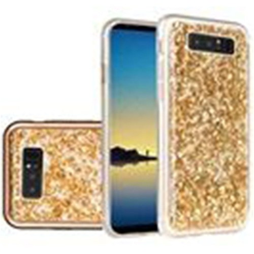 Insten For Samsung Galaxy Note 8 Gold Frozen Glitter Hard Hybrid Plastic Case Cover
