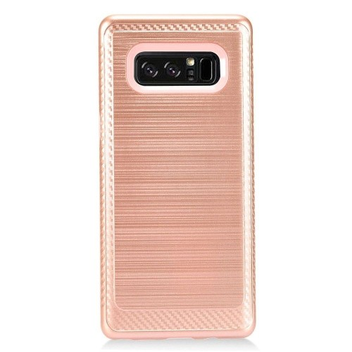 Insten For Samsung Galaxy Note 8 Rose Gold Pink Hard TPU Hybrid Brushed Case Cover
