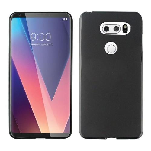 Insten For LG V30 Black Gel Rubber Case Cover