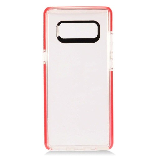 Insten Fitted Soft Shell Case for Samsung Galaxy Note 8 - Clear;Red