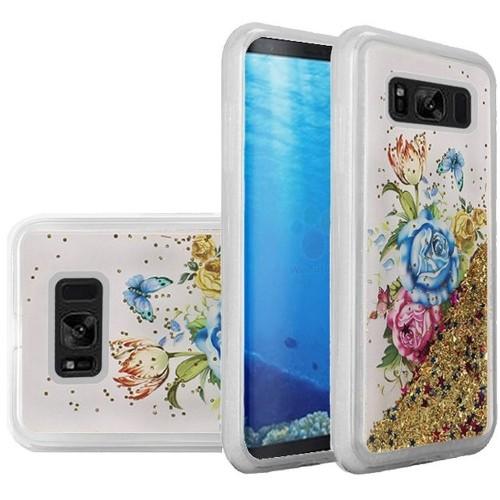 Insten For Samsung Galaxy S8 Multi-Color Flower Hard Hybrid Case Cover