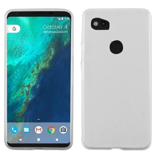 Insten For Google Pixel 2 XL Clear Rubber Case Cover