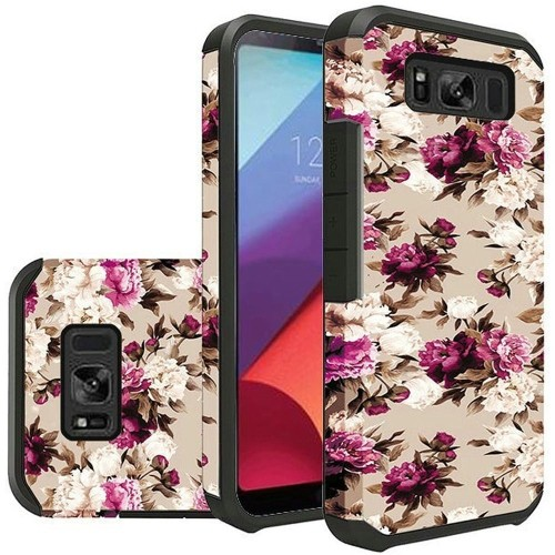 Insten For Samsung Galaxy S8 Active Multi-Color Roses Hard TPU Hybrid Case Cover