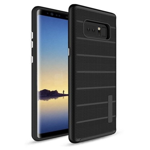 Insten For Samsung Galaxy Note 8 Black Dots Textured Fusion Hard TPU Hybrid Case Cover